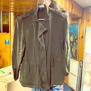 Olive army green utility jacket